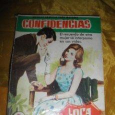 Tebeos: SERIE CONFIDENCIAS Nº 166 : LOCA POR EL. EDITORIAL FERMA 1962 *. Lote 51461940