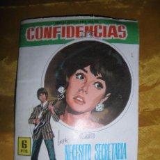 Tebeos: CONFIDENCIAS Nº 448 : NECESITO SECRETARIA QUE ME ODIE. EDITORIAL FERMA 1962. TRASERA IVAN MISTIK *. Lote 51674121