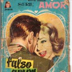 Tebeos: NOVELA GRAFICA SERIE AMOR COLECCION DAMITA Nº 25 FALSO AMOR DE FERMA 1958. Lote 52388916