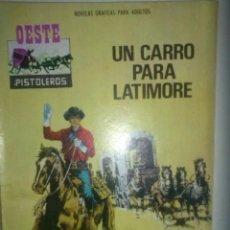 Giornalini: OESTE PISTOLEROS- Nº 152 -UN CARRO PARA LATIMORE-GRAN M. LÓPEZ BLANCO-1969-MUY RARO-BUENO-LEA-4940. Lote 52752266