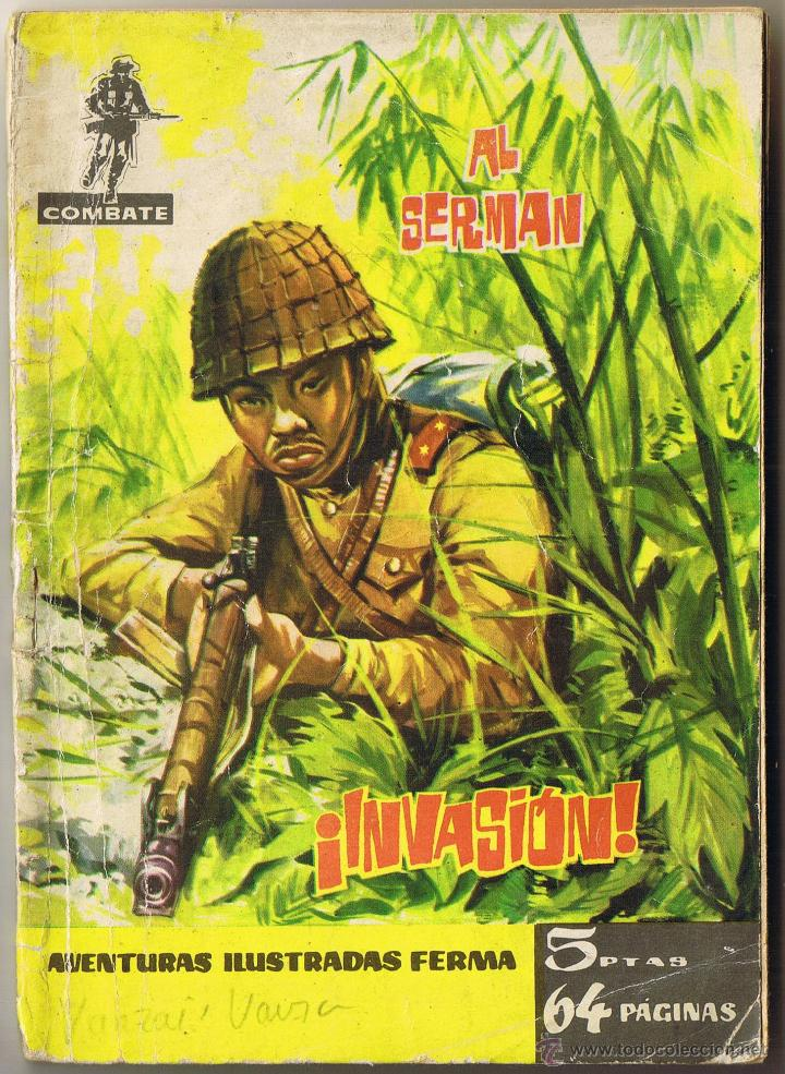 INVASION - AL SERMAN - COMBATE - AVENTURAS ILUSTRADAS FERMA Nº 20 - 1962 (Tebeos y Comics - Ferma - Combate)