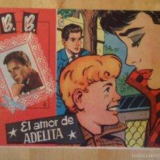 Tebeos: CÓMIC COLECCIÓN CAROLINA B. B. BRIGITTE BARDOT EL AMOR DE ADELITA RICHARD BASEHART REVISTA JUVENIL. Lote 56267664