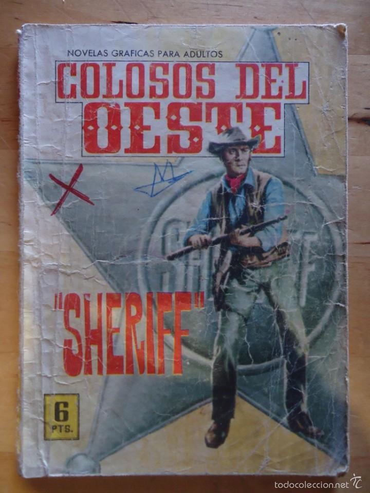 CÓMIC ANTIGUO NOVELAS GRÁFICAS PARA ADULTOS COLOSOS DEL OESTE SHERIFF EDITORIAL FERMA (Tebeos y Comics - Ferma - Colosos de Oeste)