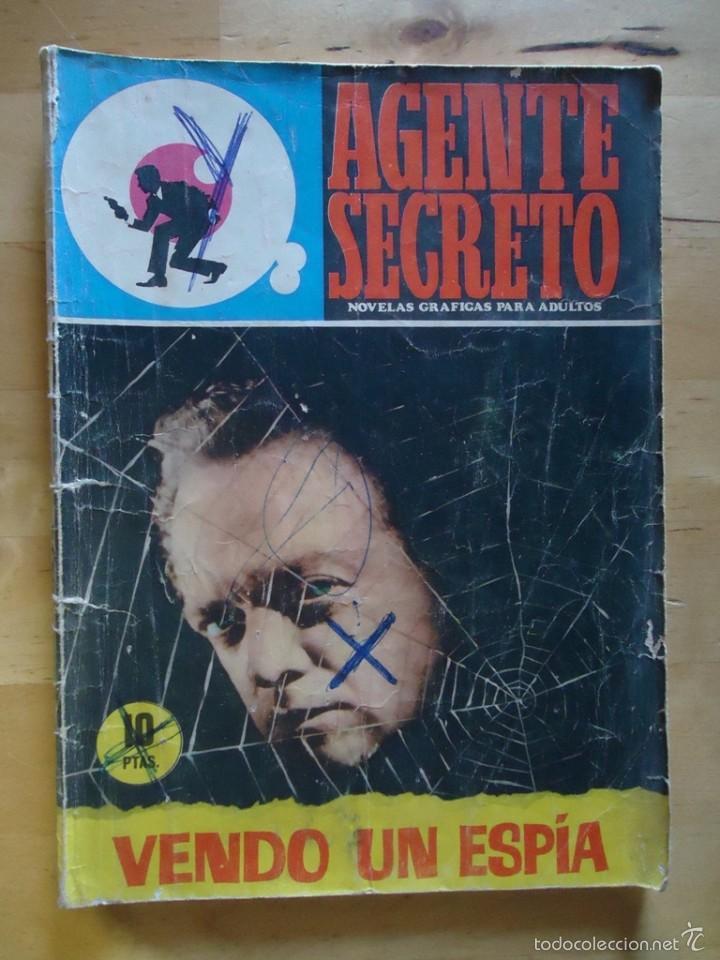 CÓMIC ANTIGUO NOVELAS GRÁFICAS PARA ADULTOS AGENTE SECRETO VENDO UN ESPÍA EDITORIAL FERMA (Tebeos y Comics - Ferma - Agente Secreto)