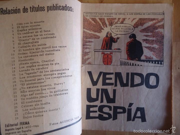 Tebeos: CÓMIC ANTIGUO NOVELAS GRÁFICAS PARA ADULTOS AGENTE SECRETO VENDO UN ESPÍA EDITORIAL FERMA - Foto 2 - 57509145