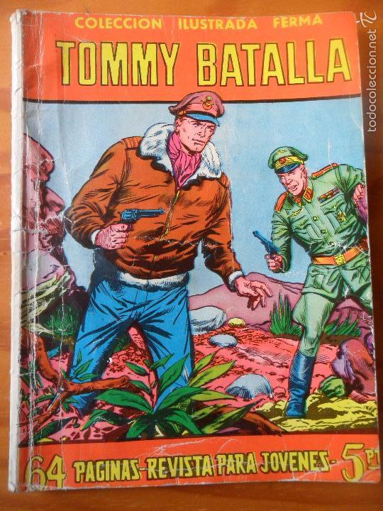 TOMMY BATALLA - COLECCION ILUSTRADA FERMA Nº 59 - 64 PGNAS. 1958 (Tebeos y Comics - Ferma - Aventuras Ilustradas)