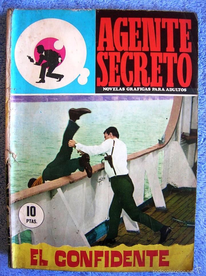 AGENTE SECRETO - Nº 24 EL CONFIDENTE - EDIT. FERMA EN 1966. (Tebeos y Comics - Ferma - Agente Secreto)