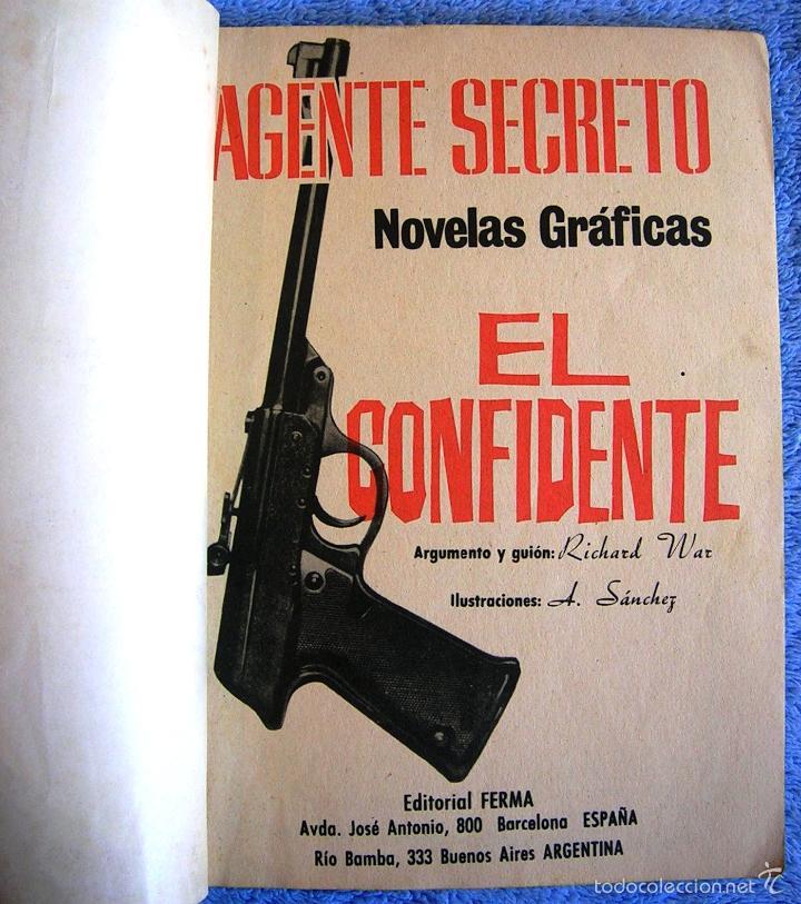 Tebeos: AGENTE SECRETO - Nº 24 EL CONFIDENTE - EDIT. FERMA EN 1966. - Foto 3 - 57619037