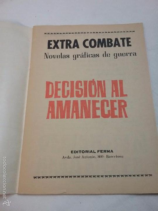 Tebeos: EXTRA COMBATE - DECISIÓN AL AMANECER - EDITORIAL FERMA - AÑO 1965 - Foto 2 - 58431922