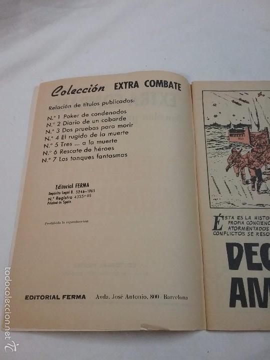 Tebeos: EXTRA COMBATE - DECISIÓN AL AMANECER - EDITORIAL FERMA - AÑO 1965 - Foto 3 - 58431922