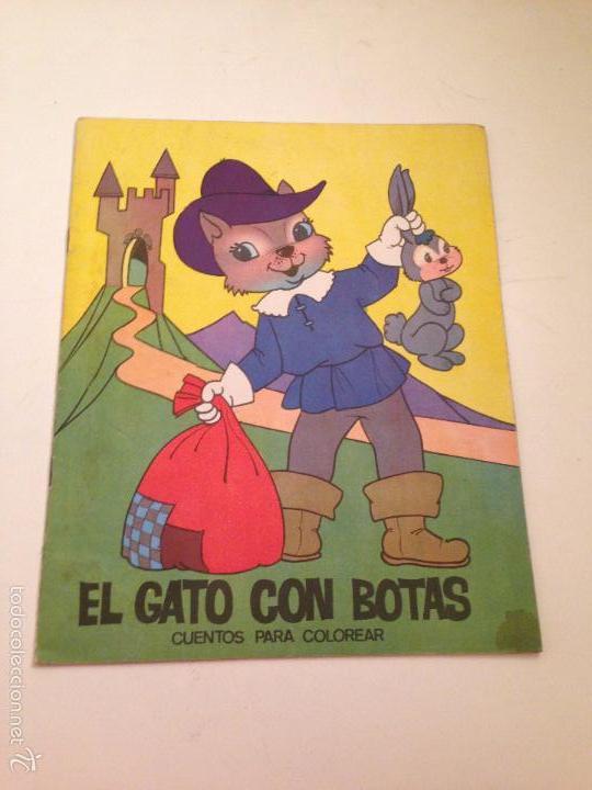 CUENTOS PARA COLOREAR. EL GATO CON BOTAS. EDITORIAL FERMA 1967 (Tebeos y Comics - Ferma - Otros)