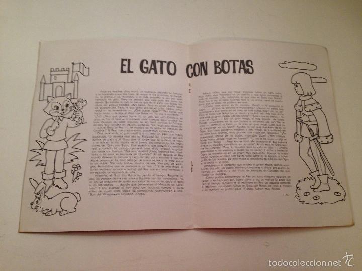 Tebeos: CUENTOS PARA COLOREAR. EL GATO CON BOTAS. EDITORIAL FERMA 1967 - Foto 2 - 58501902