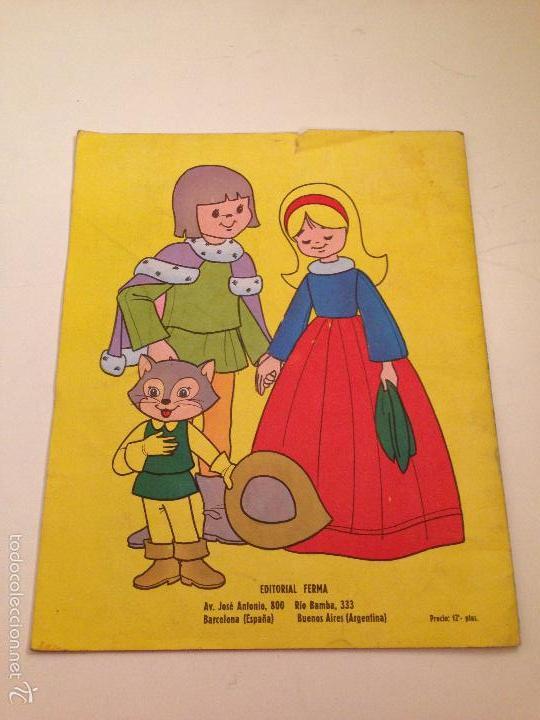 Tebeos: CUENTOS PARA COLOREAR. EL GATO CON BOTAS. EDITORIAL FERMA 1967 - Foto 3 - 58501902