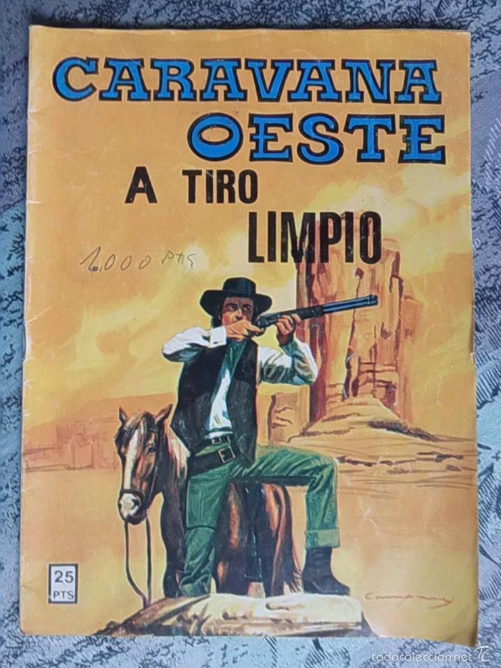 TEBEO - CARAVANA OESTE - Nº. 195 - A TIRO LIMPIO (Tebeos y Comics - Ferma - Gran Oeste)