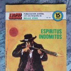 Tebeos: TEBEO - APACHE - ESPÍRITUS INDÓMITOS - Nº. 18 - BIOGRAFIA DE BELLE STAR. Lote 61342039