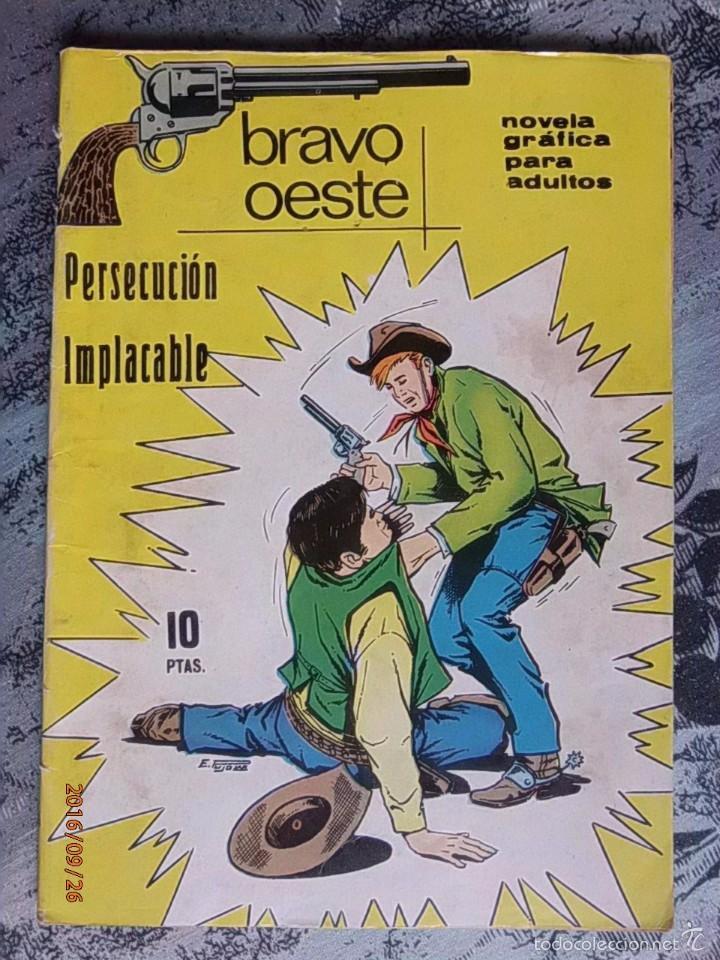 TEBEO - BRAVO OESTE - PERSECUCIÓN IMPLACABLE - NOVELA GRÁFICA (Tebeos y Comics - Ferma - Gran Oeste)