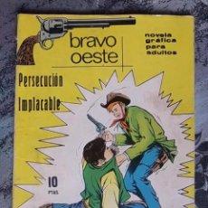 Tebeos: TEBEO - BRAVO OESTE - PERSECUCIÓN IMPLACABLE - NOVELA GRÁFICA. Lote 61342915