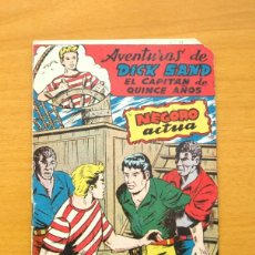 Tebeos: DICK SAND Nº 4 - NEGORO ACTUA - EDITORIAL FERMA 1955. Lote 61746136