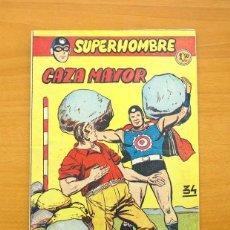 Tebeos: SUPERHOMBRE Nº 34 - CAZA MAYOR - EDITORIAL FERMA 1957. Lote 61749392