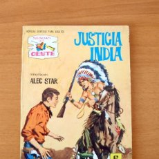 Tebeos: SENDAS DEL OESTE Nº 263 - JUSTICIA INDIA - EDITORIAL FERMA 1962. Lote 61795612