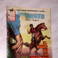 Tebeos: GRAN OESTE Nº 22. EL ZORRO DE LA FRONTERA. PETER KAPRA (PEDRO GUIRAO). EXCLUSIVAS FERMA, 1958. +++. Lote 62499012
