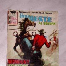 Tebeos: GRAN OESTE Nº 33. MANHUNT, LA CAZA DEL HOMBRE. AL SERMAN. EXCLUSIVAS FERMA, 1958. +++. Lote 62499192