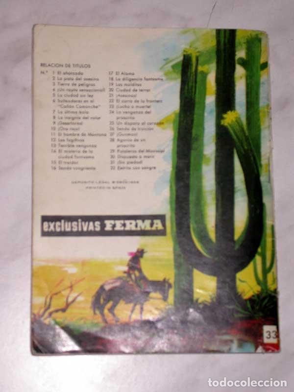 Tebeos: GRAN OESTE Nº 33. MANHUNT, LA CAZA DEL HOMBRE. AL SERMAN. EXCLUSIVAS FERMA, 1958. +++ - Foto 4 - 62499192