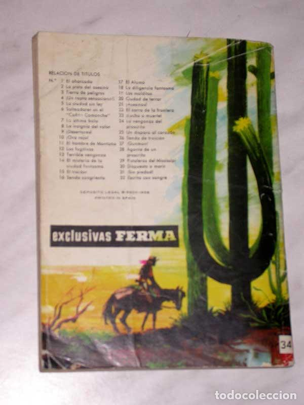 Tebeos: GRAN OESTE Nº 34. SONRIENDO A LA MUERTE. PETER KAPRA (PEDRO GUIRAO). EXCLUSIVAS FERMA, 1958. +++ - Foto 4 - 62499376