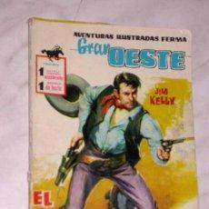 Tebeos: GRAN OESTE Nº 71. EL AZOTE. JIM KELLY. AVENTURAS ILUSTRADAS FERMA. EXCLUSIVAS FERMA, 1962. +++. Lote 62499836