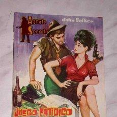 Tebeos: AGENTE SECRETO Nº 9. JUEGO FATÍDICO. JOHN BOLKER. EXCLUSIVAS FERMA, 1962. +++. Lote 62505156