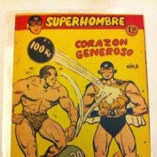 Tebeos: SUPERHOMBRE - CORAZÓN GENEROSO - Nº. 9. Lote 62883020