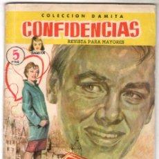 Tebeos: COLECCION DAMITA CONFIDENCIAS Nº 24 EXCLUSIVAS FERMA 1958 - 68 PGS - 18,8 X 13,3 CMS - DIFICIL. Lote 63105464