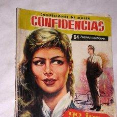Tebeos: YO JURO VENGARME. COLECCIÓN DAMITA, SERIE CONFIDENCIAS Nº 4. EXCLUSIVAS FERMA, 1958. +++. Lote 64841135