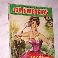 Tebeos: LAGRIMAS DE SOLEDAD. COLECCIÓN DAMITA, SERIE CONFIDENCIAS Nº 62. EXCLUSIVAS FERMA, 1958. ++. Lote 64847755