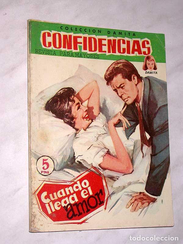 CUANDO LLEGA EL AMOR. COLECCIÓN DAMITA, SERIE CONFIDENCIAS Nº 68. EXCLUSIVAS FERMA, 1958. ++ (Tebeos y Comics - Ferma - Otros)