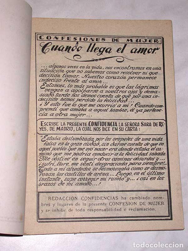 Tebeos: CUANDO LLEGA EL AMOR. COLECCIÓN DAMITA, SERIE CONFIDENCIAS Nº 68. EXCLUSIVAS FERMA, 1958. ++ - Foto 2 - 64849559