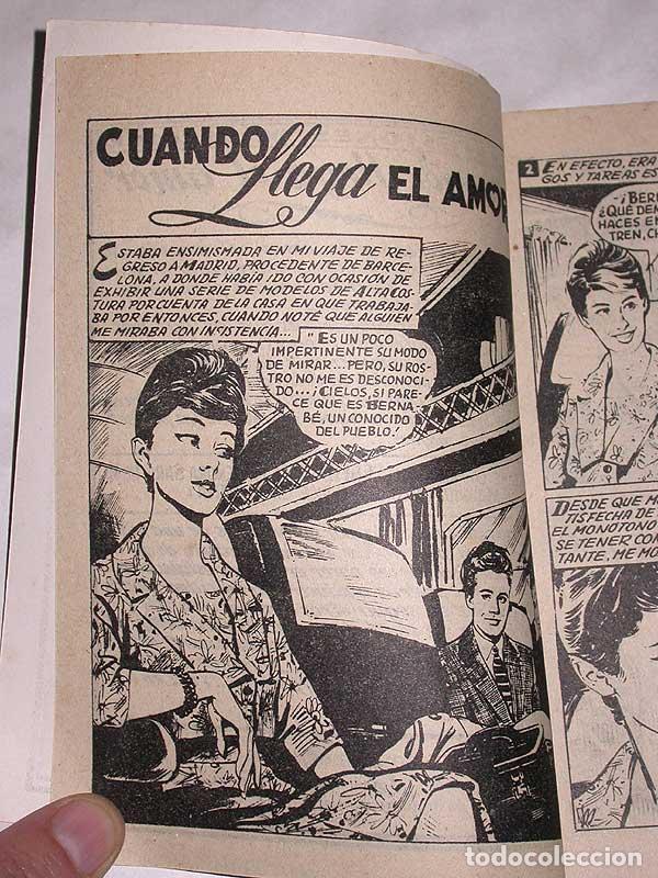Tebeos: CUANDO LLEGA EL AMOR. COLECCIÓN DAMITA, SERIE CONFIDENCIAS Nº 68. EXCLUSIVAS FERMA, 1958. ++ - Foto 3 - 64849559