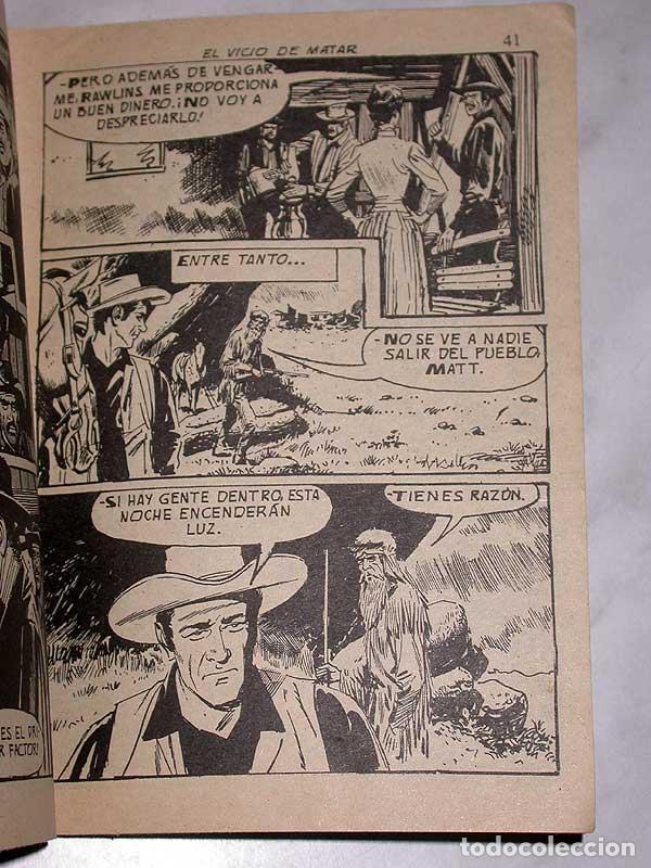 Tebeos: EL VICIO DE MATAR, UNA AVENTURA DE MATT DILLON. HARRY BISHOP. COLOSOS DEL OESTE Nº 114. FERMA, 1969. - Foto 3 - 64859055