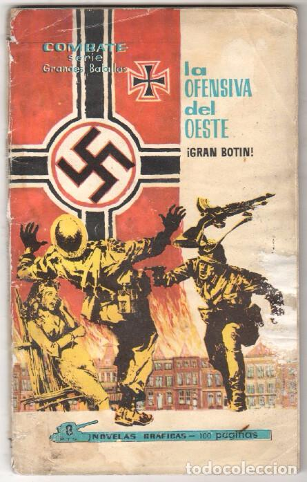 COMBATE SERIE GRANDES BATALLAS Nº 2 FERMA 1963 - LA OFENSIVA DEL OESTE, DIFICIL (Tebeos y Comics - Ferma - Combate)