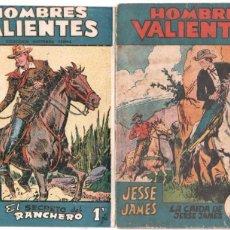 Tebeos: HOMBRES VALIENTES ORIGINAL Nº 4 JESSE JAMES Nº 13 BILL HICKOK. Lote 67199009