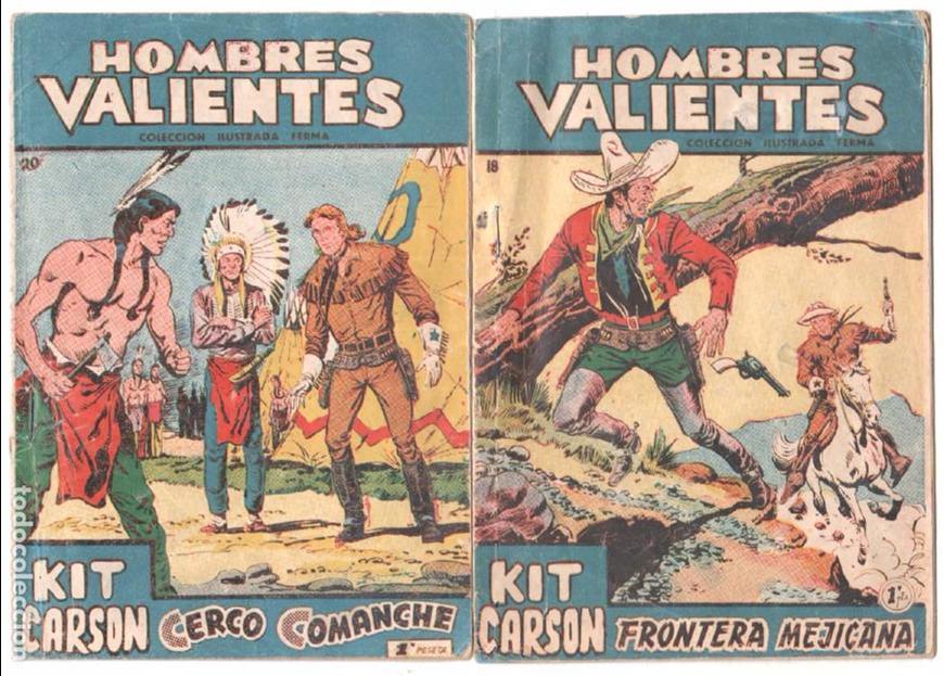 HOMBRES VALIENTES NºS 18 Y 20 KIT CARSON, MUY DIFICILES, EL 20 ÚLTIMO (Tebeos y Comics - Ferma - Otros)