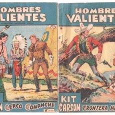 Tebeos: HOMBRES VALIENTES NºS 18 Y 20 KIT CARSON, MUY DIFICILES, EL 20 ÚLTIMO. Lote 67199213