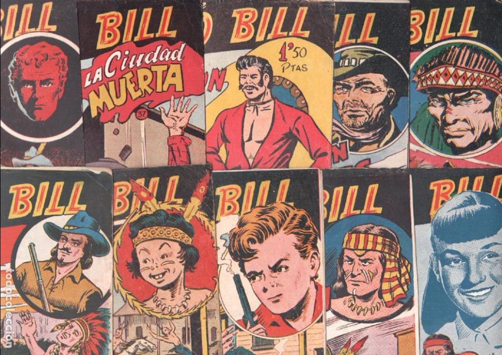 BUFFALO BILL ORIGINAL EDITORIAL FERMA 1956 - LOTE NºS - 2-9-10-15-16-22-37-39-45-47 (Tebeos y Comics - Ferma - Otros)