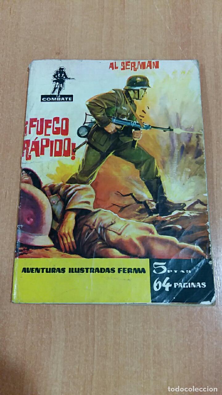 COMIC COMBATE. FUEGO RAPIDO, AL SERMAN. EDIT FERMA 1962 (Tebeos y Comics - Ferma - Combate)