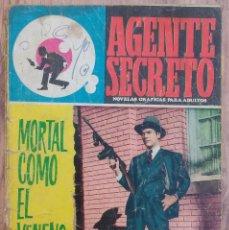 Tebeos: AGENTE SECRETO. MORTAL COMO EL VENENO. LIPSIA, BARCELONA . Lote 68652253