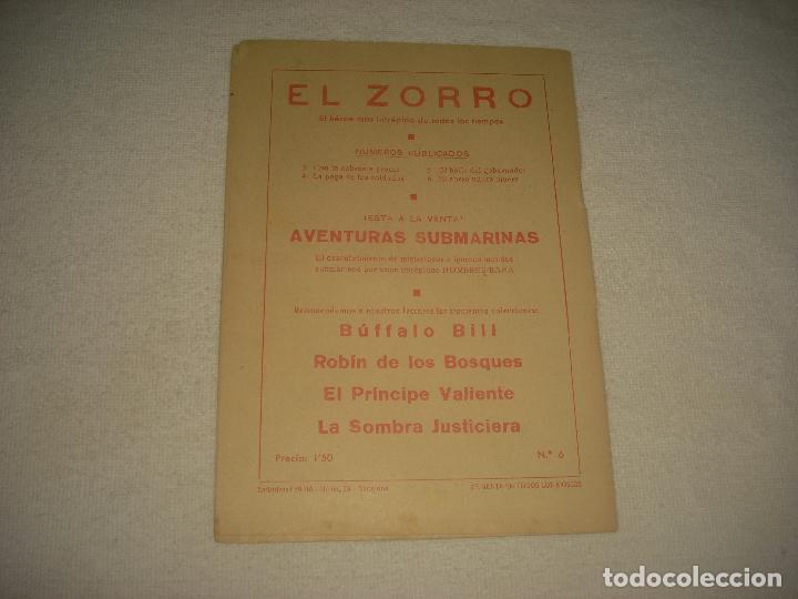 Tebeos: EL ZORRO . N° 6 . ED; FERMA. EL ZORRO NUNCA MUERE . ORIGINAL - Foto 2 - 71780295