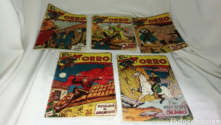 LOTE DE CINCO TEBEOS COMICS EL ZORRO DE FERMA . ORIGINAL AÑOS 50 NUMERO 4 , 6 , 7 , 15 Y 17 LEER (Tebeos y Comics - Ferma - Otros)