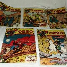 Tebeos: LOTE DE CINCO TEBEOS COMICS EL ZORRO DE FERMA . ORIGINAL AÑOS 50 NUMERO 4 , 6 , 7 , 15 Y 17 LEER. Lote 74931089
