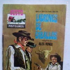 Tebeos: LADRONES DE CABALLOS. ADAPTACIÓN ALEX RINGO. COLECCIÓN OESTE-PISTOLEROS 122. ESPAÑA 1963.. Lote 81097664