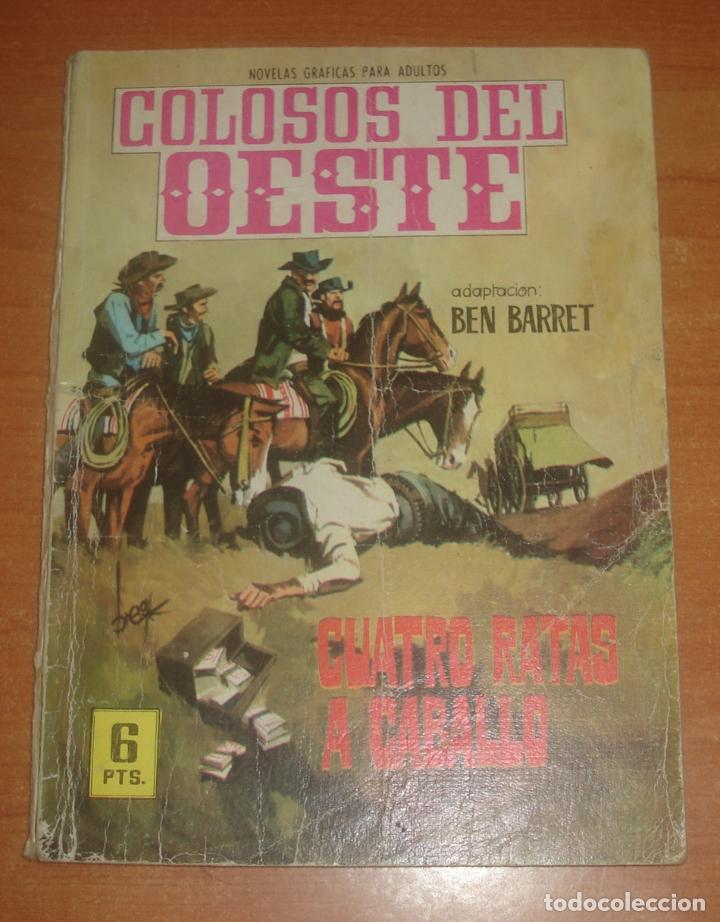 COLOSOS DEL OESTE. CUATRO RATAS A CABALLO. EDITORIAL FERMA. Nº 91. (Tebeos y Comics - Ferma - Colosos de Oeste)